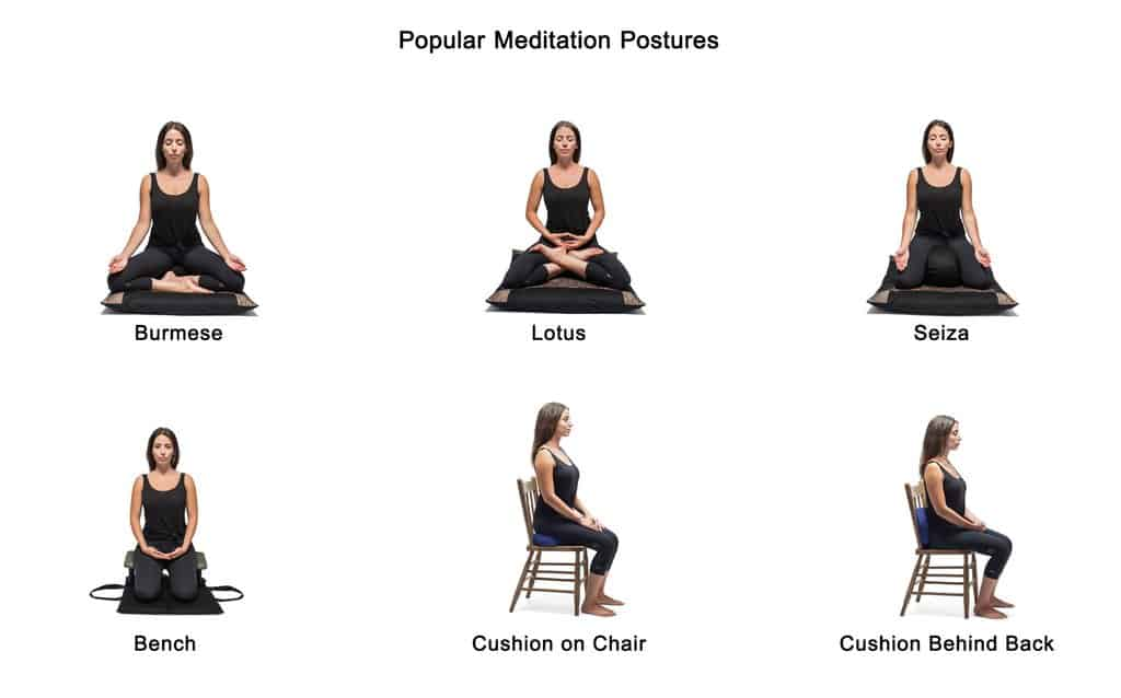 Meditation postures for beginners